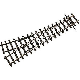 H0e Tillig Narrow Gauge 85637 Points, Right 128 mm