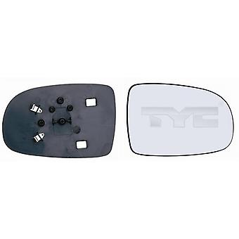 Right Mirror Glass (not heated) & Holder for VAUXHALL CORSAVAN mk2 2000-2006