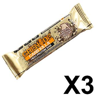 3 x Individual Grenade 60g White Chocolate Mocha Carb Killa Bars