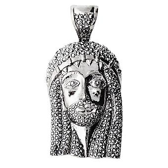 Iced out bling BLACK EDITION halskæde - JESUS sort hem