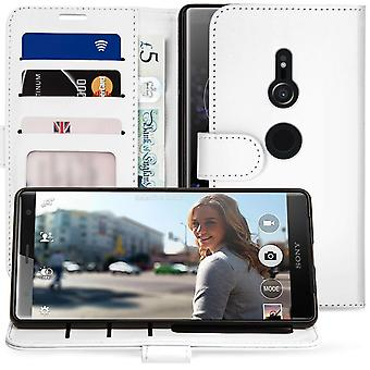 Sony Xperia XZ2 PU leder ID staan portemonnee - wit