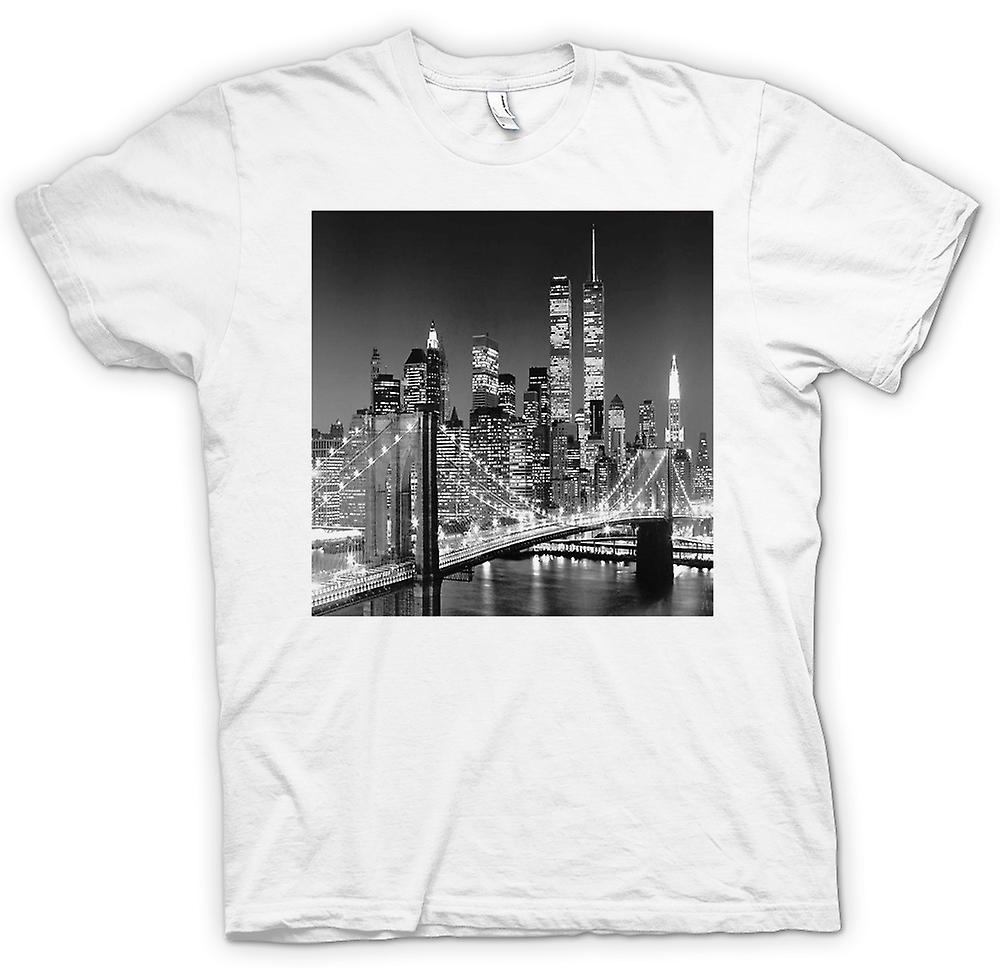 Herren T-Shirt - New York Sky Line - Twin Towers