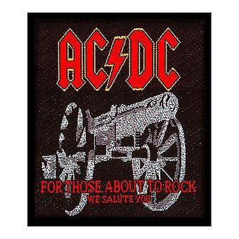 AC/DC Patch For Those About To Rock Band Logo Official New Black (7cm x 8cm)