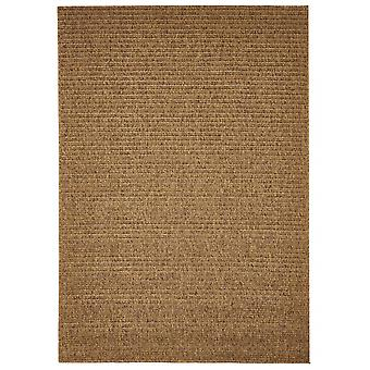 Outdoor carpet for Terrace / balcony of Brown natural plain Mocha 133 / 190 cm carpet indoor / outdoor - for indoors and outdoors