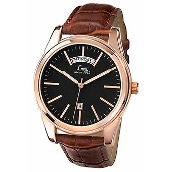 Limit Mens Brown Strap Black Dial 5484.01 Watch