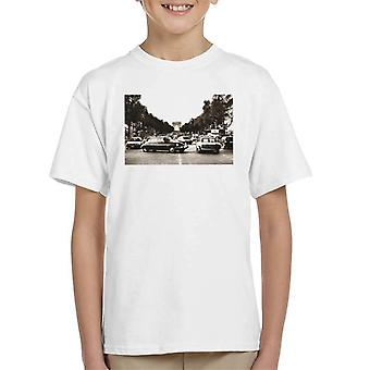 Citroen DS Paris Arc De Triomphe Kid's T-Shirt
