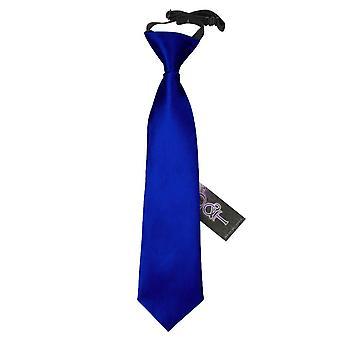 Royal Blue Plain Satin Elasticated Tie for Boys