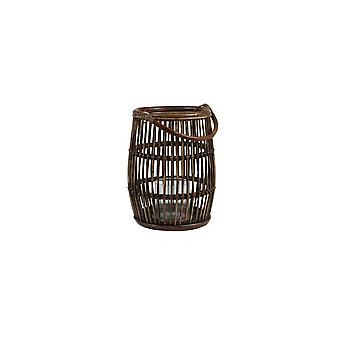 Light & Living Lantern Ø37X46 Cm Wetar Rattan Natural-Dark Grey