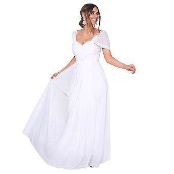 KRISP mujeres en el hombro de la noche boda larga dama de honor vestido maxi prom dress 8-18