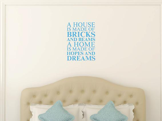 Una casa è fatta di Wall Art Sticker - Arctic Blue