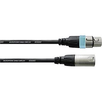 Cordial CCM 10 FM XLR Cable [1x XLR socket - 1x XLR plug] 10 m Black