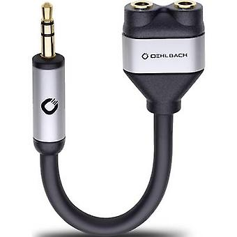 Oehlbach i-Connect J-adaptador AD Jack Audio/phono Y [1 x conector Jack 3,5 mm - 2 x conector Jack 3,5 mm] negro