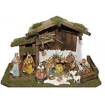Crib TIGRIS wooden Manger Nativity Christmas large stable