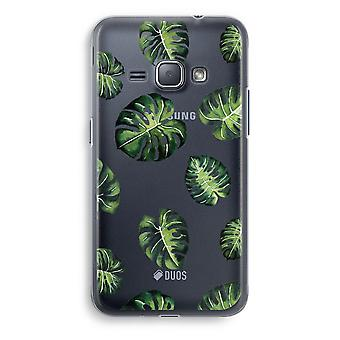 Samsung Galaxy J1 (2016) Transparent Case (Soft) - Tropical leaves