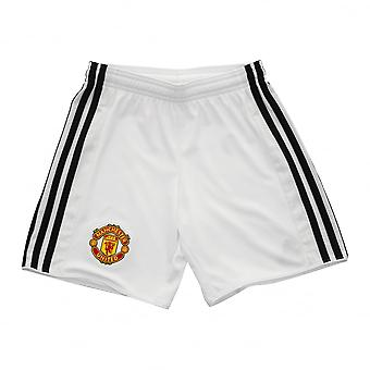 Adidas Performance Juniors Manchester United 2017/2018 Home Shorts (White)