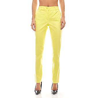B.C.. best connections bright ladies cigarette pants plus size yellow