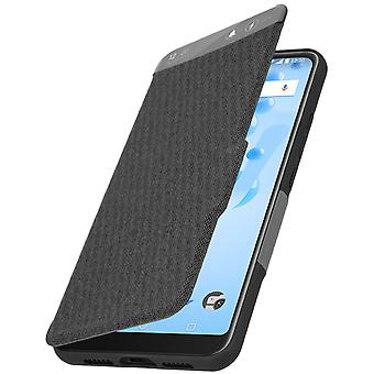 Official Wiko Smart WiLINE Folio, shockproof case for Wiko View 2 Pro - Black
