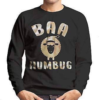 Baa Humbug Sheep Christmas Men's Sweatshirt