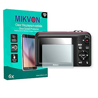 Nikon COOLPIX L29 Screen Protector - Mikvon Clear (Retail Package with accessories)