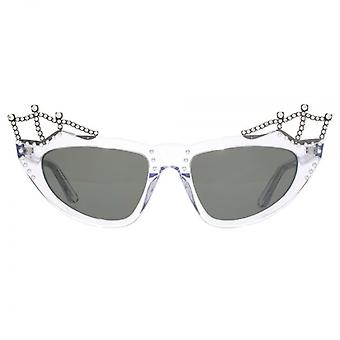 Saint Laurent SL 122 Tiara Sunglasses In Crystal