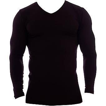 Obviously Essence V-Neck Long Sleeve Undershirt - Black