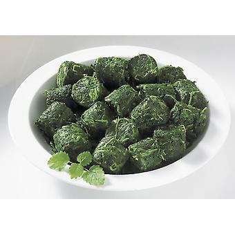 Grünen Blatt Spinat Portionen eingefroren