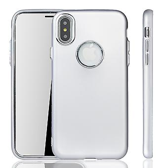 Apple iPhone X / XS caso - caso de telefone celular para Apple iPhone X / XS - prata caso móvel