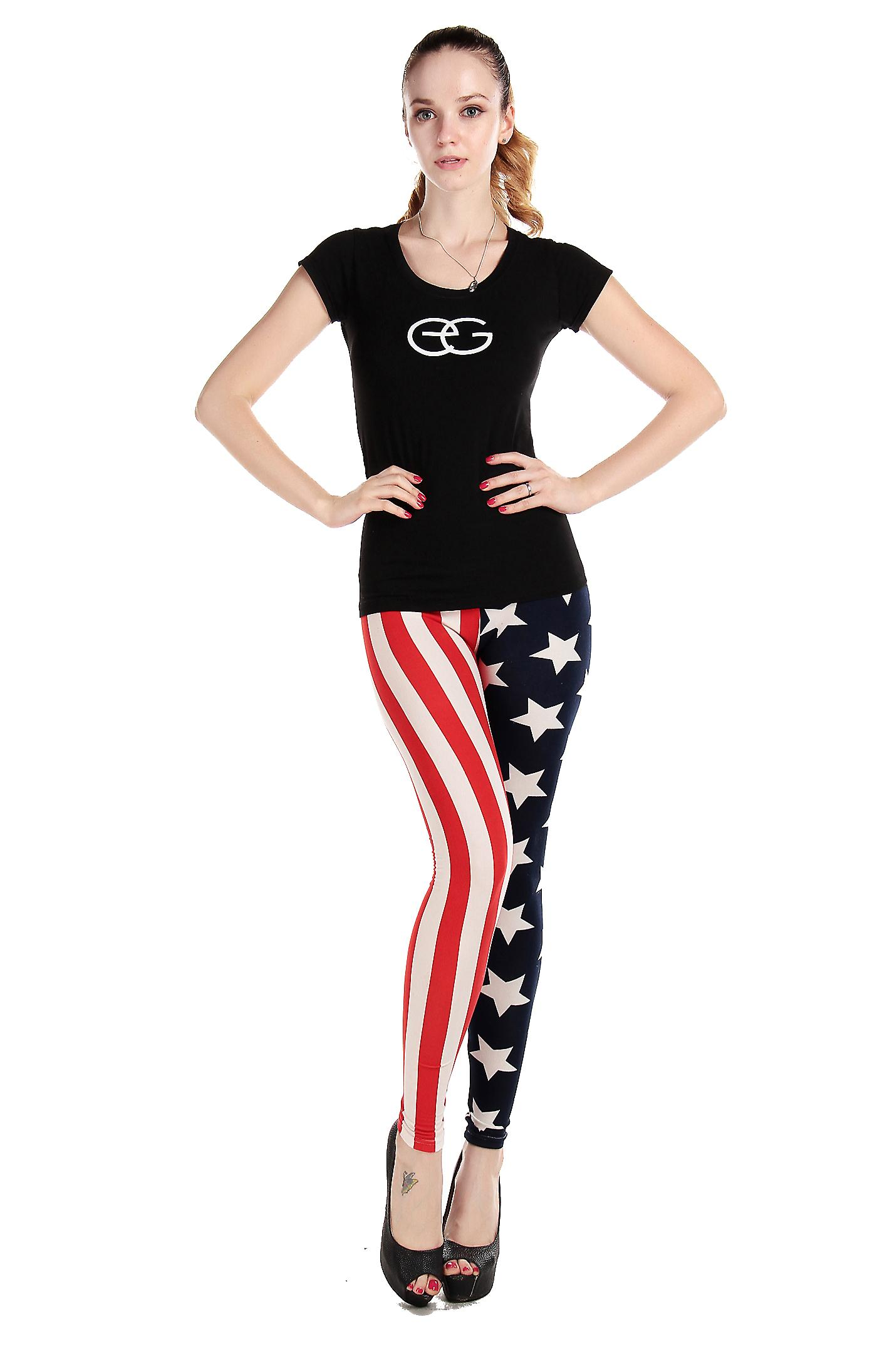 Waooh - Fashion - Legging long printed American flag