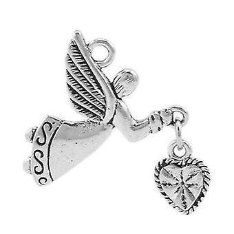 Pakke 5 x antik sølv tibetansk 25mm Angel charme/vedhæng ZX04405