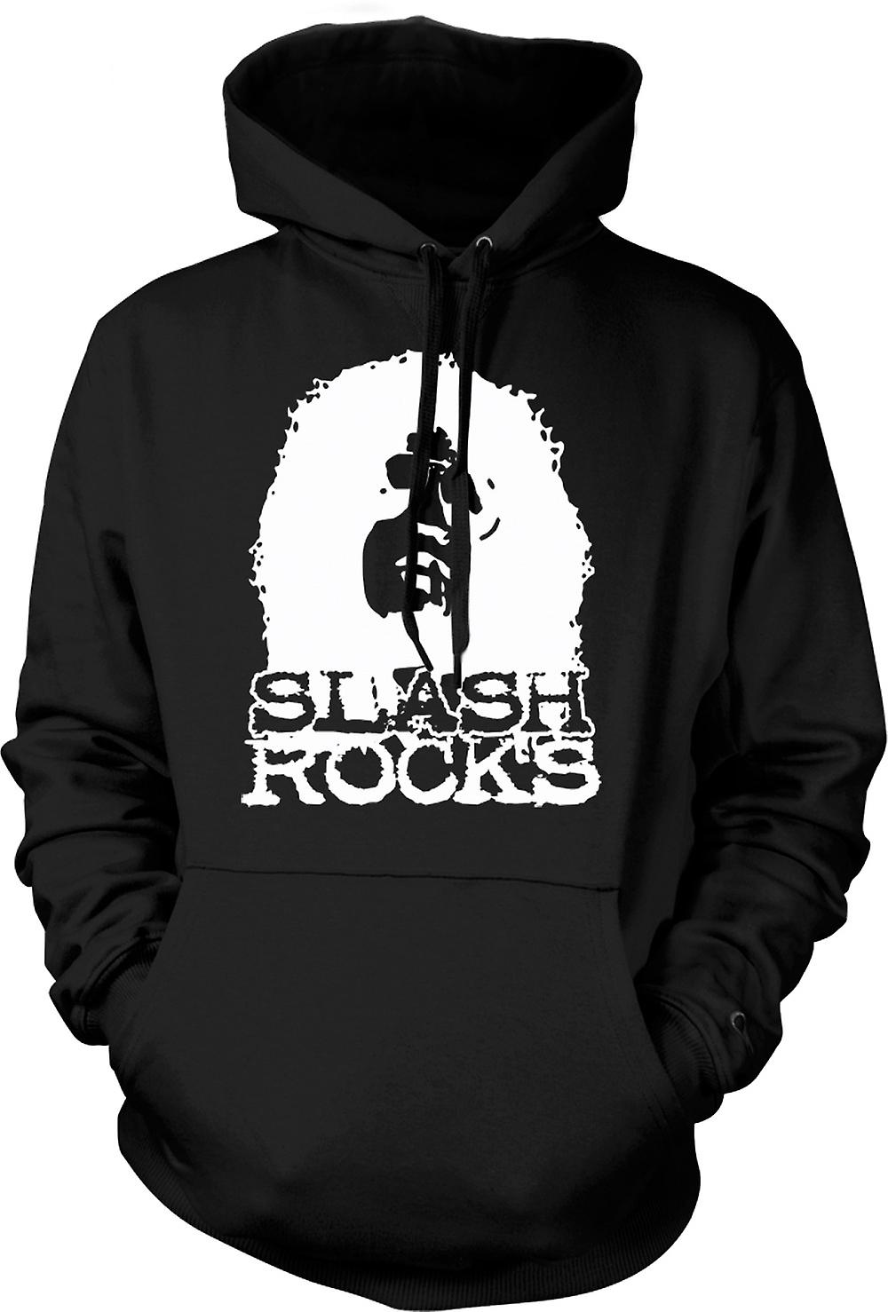 Mens Hoodie - Slash Rock Guitar - Guns n Roses