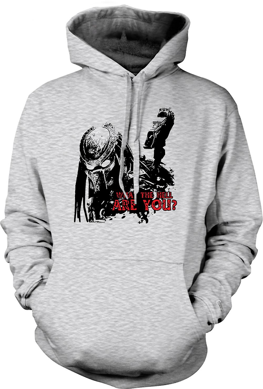 Mens Hoodie - Predator What The Hell - Alien