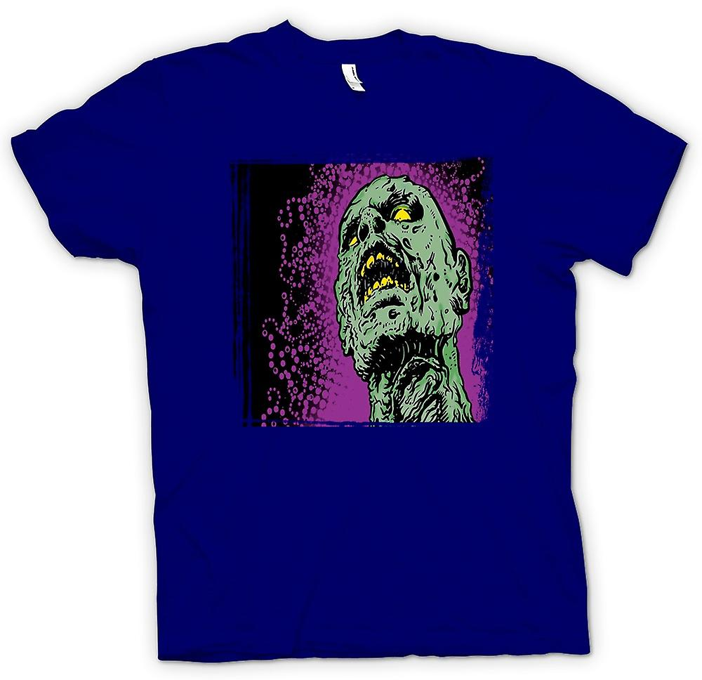 Herr T-shirt-Pop Art - Zombie huvud - Cool