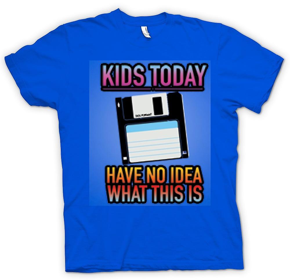 Hommes T-shirt - les enfants d'aujourd'hui ont aucune idée de ce qu'il en est - Disquette