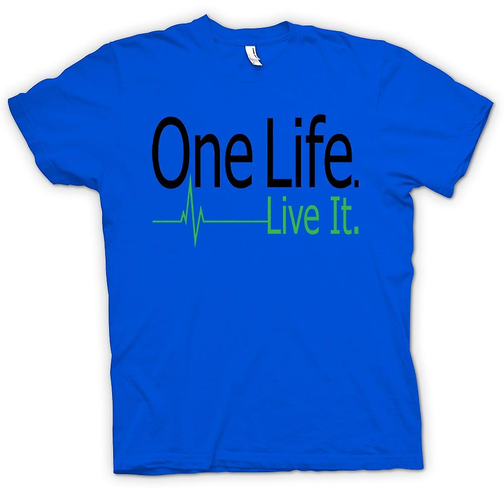 Hommes T-shirt - One Life, Live It