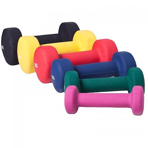 10 kg (2x5,0) Halt�re Fitness en vinyle