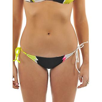Fox Day Glo gul hurtigere end lynet Side Tie dame Bikini bunden