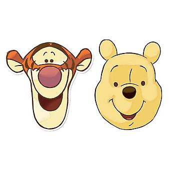 Winnie The Pooh and Tigger Card Face Mask Set of 2
