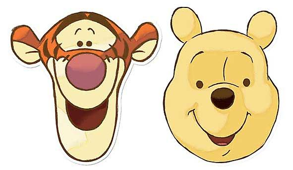 Winnie Puuh und Tigger Karte Face Mask Set aus 2