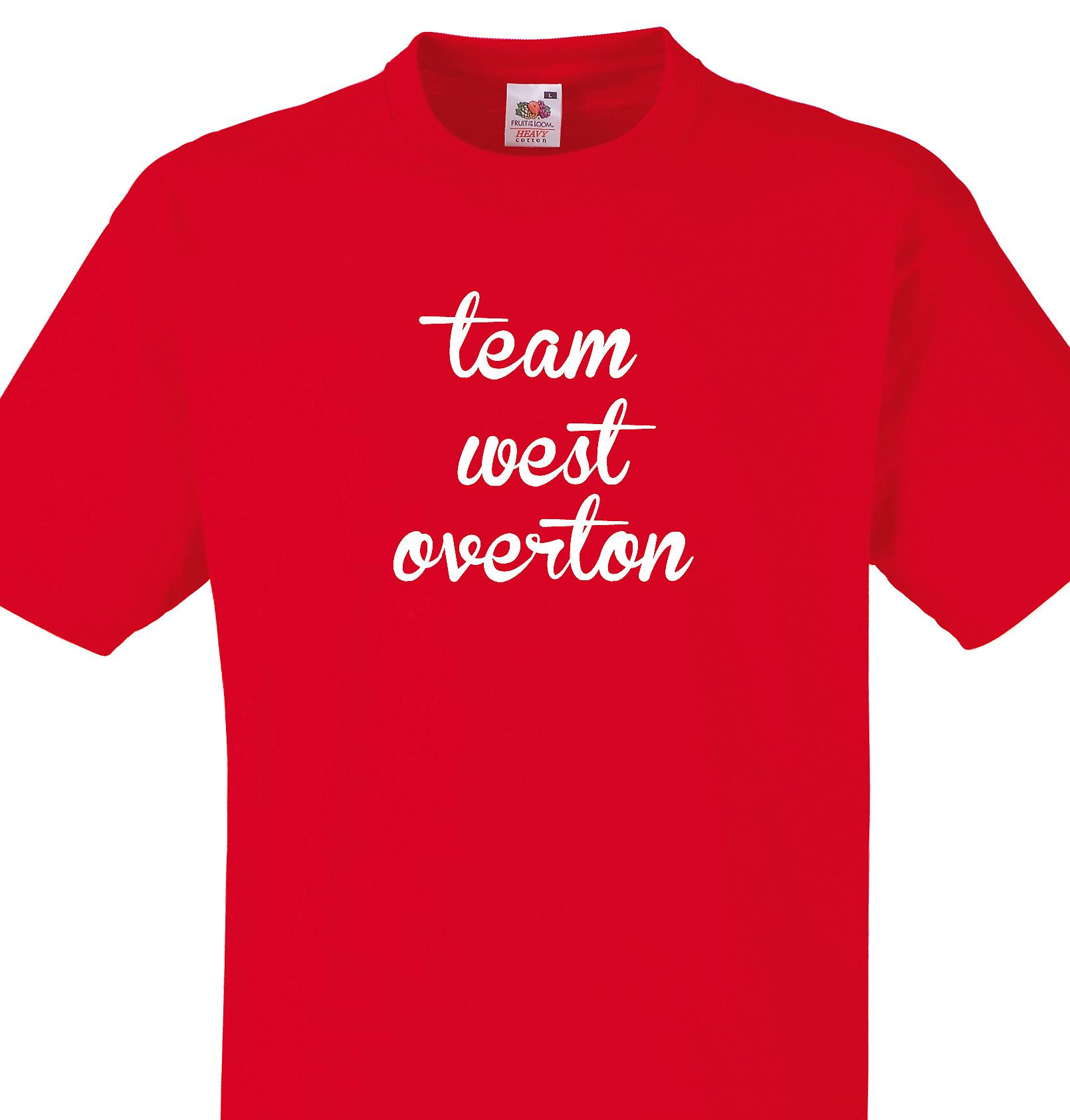 Team West overton Red T shirt