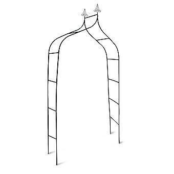 Arche arcade arceau à rosiers plante grimpante jardin vert foncé 240 cm 2213005