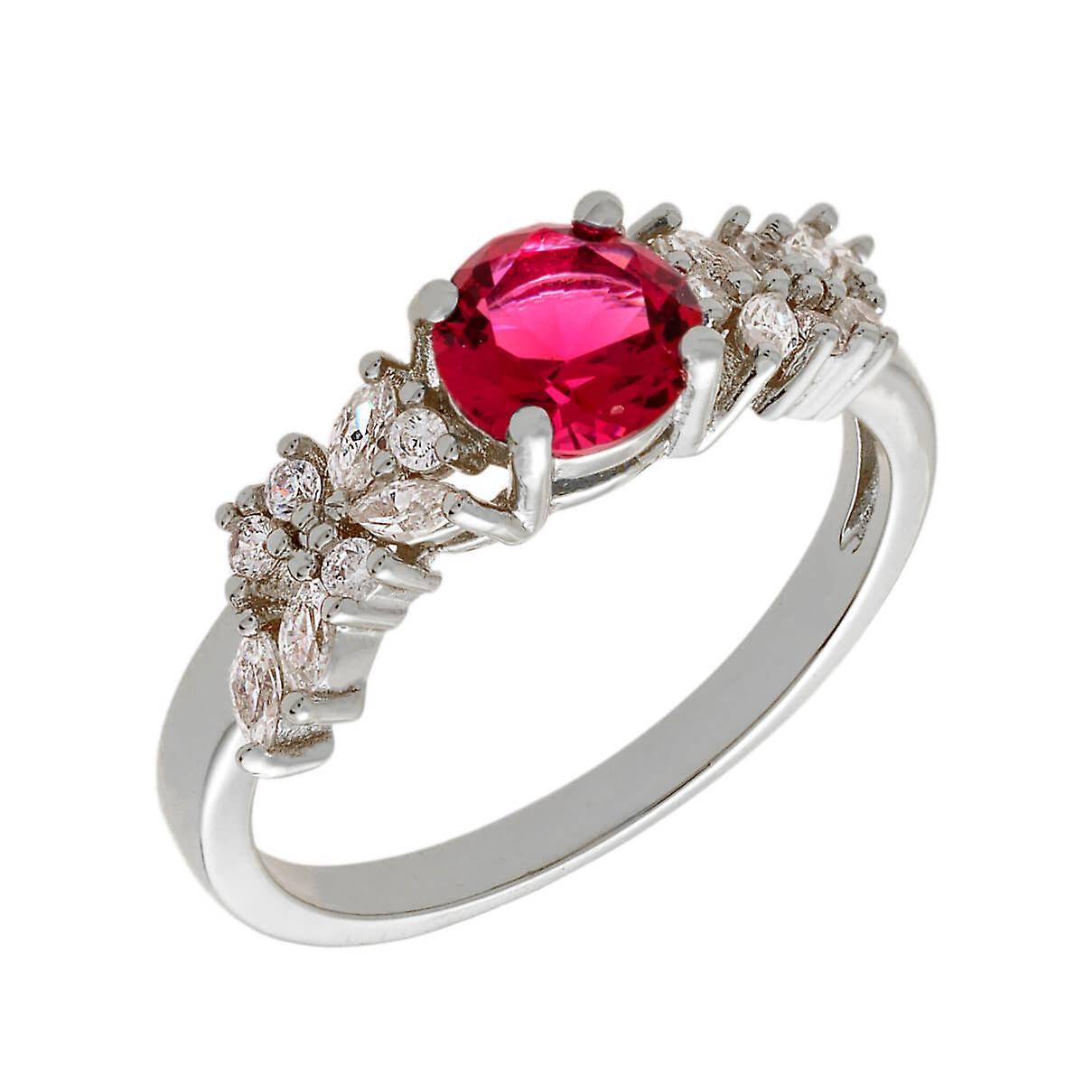 18 k gt Bertha Juliette Collection féminine plaqué rouge Cluster mode anneau taille 7