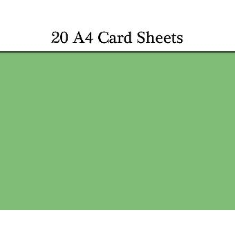 20 Christmas Green A4 Card Sheets for Crafts | Coloured Card for Crafts