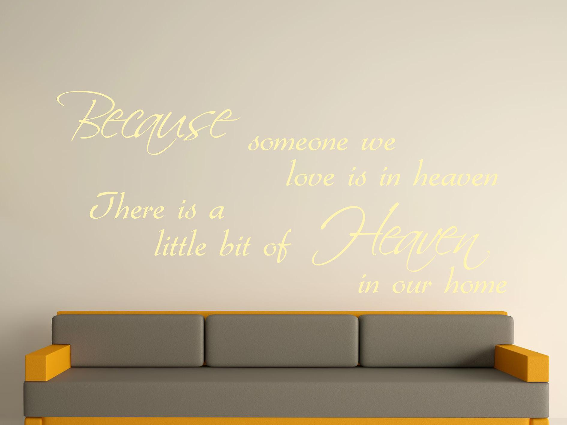 Because Someone Wall Art Sticker - Beige