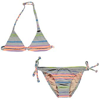 ONeill Kids Girls Stripe Bikini Junior Set Breathable Water Repellent Quick