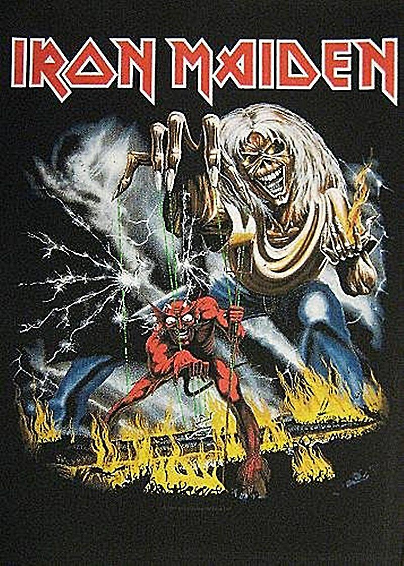 Iron Maiden Number Of The Beast large sew-on back patch  (mm)