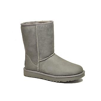 Ugg Grey Leather Ankle Boots