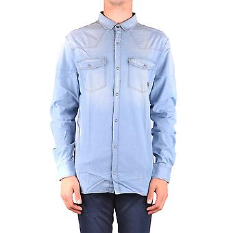 Balmain Light Blue Cotton Shirt