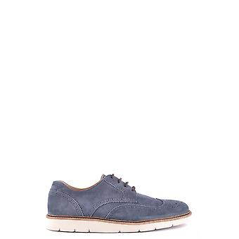 Hogan Blue Suede Lace-up Shoes
