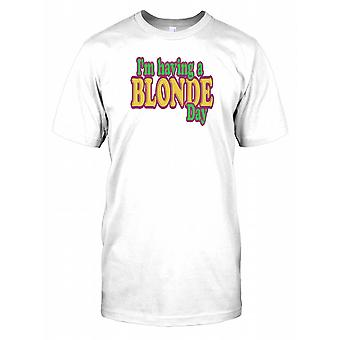 I'm Having A Blonde Day - Funny Quote Kids T Shirt