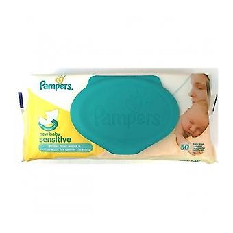 Pampers Sensitive New Baby Wipes 50S
